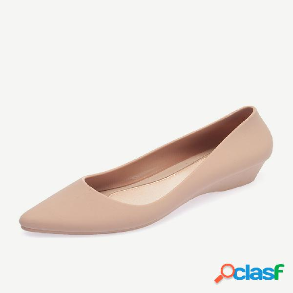 Mujer comfy soft sole casual slip on wedges mocasines