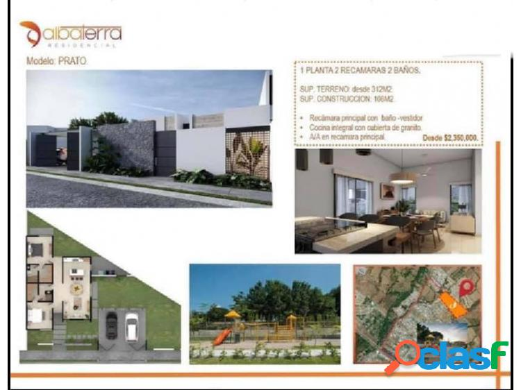 Preventa hermosa casa modelo prato en residencial albaterra colima