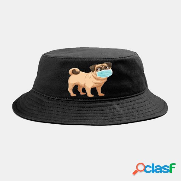Animales de dibujos animados en cuarentena sombrero aislados patrón sombrero gorra de algodón