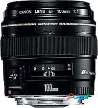 Canon lente ef 100mm/2.0 usm, macro, negro