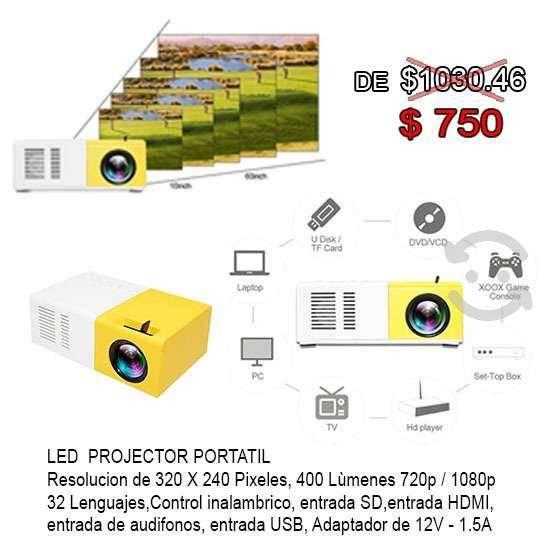Proyector portatil led