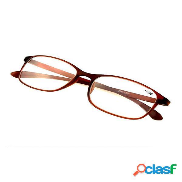 Hombre mujer flexible ultraligero tr90 montura de lectura gafas gafas para presbicia gafas