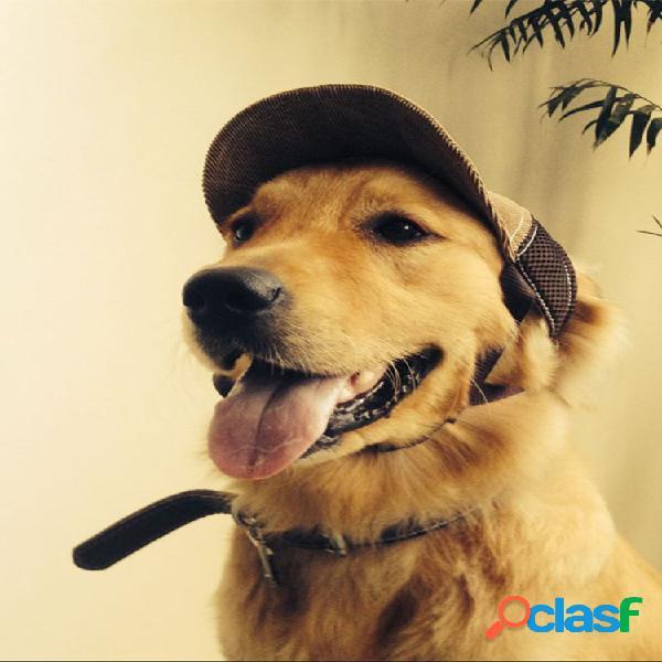 Béisbol ajustable para mascotas sombrero al aire libre viaje sombrero protector solar de verano perro sombrero