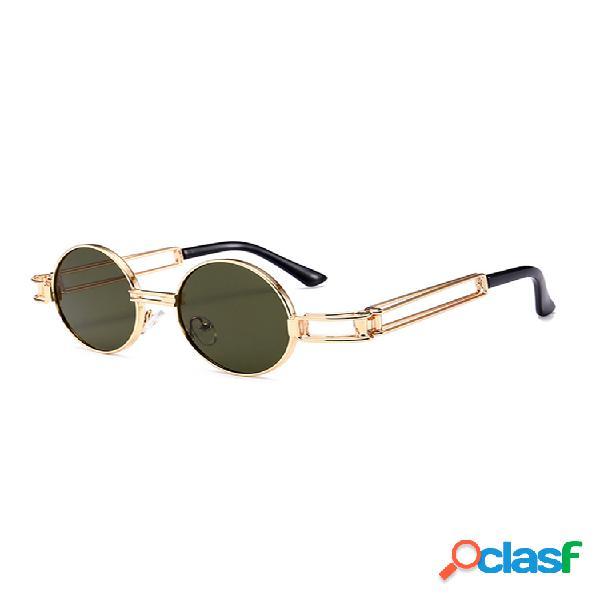 Mujer vendimia gafas de sol redondas retro hd gafas de sol punk ligeras