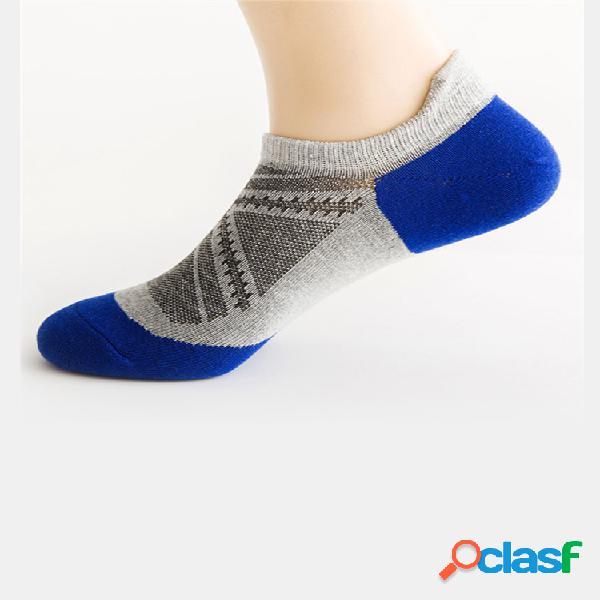 Hombre mujer tobillo de algodón transpirable de malla fina de verano calcetines sweat dry barco calcetines
