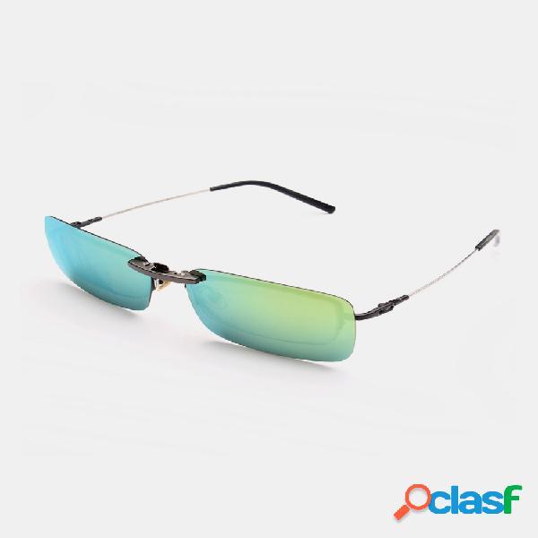 Clip polarizado en gafas de sol visión nocturna lente clip para marco de metal gafas