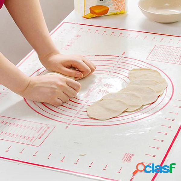 Cocina silicona fibra de vidrio rollo de masa hoja pastel pastelería pastel horno almohadilla estera pasta cocinar herramientas