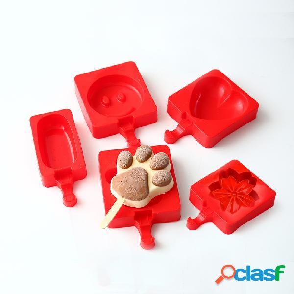 Kcasa kc-bm6 molde de helado de silicona creativo ice pops tray molde de chocolate molde ice lolly