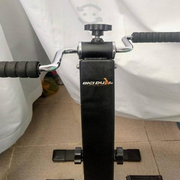 Bicicleta estática dual
