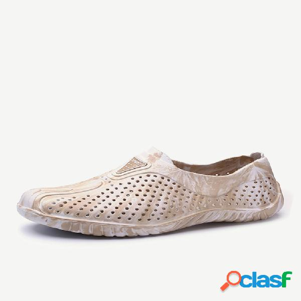 Hombres hollow out transpirable slip on playa agua sandalias