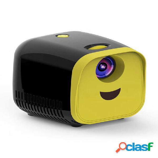 Mini dibujos animados proyector 1080p hd tv para niños proyector hogar portátil proyector lcd pantalla