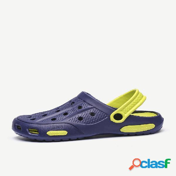 Hombre playa sandalias zapatillas zuecos de agua de verano