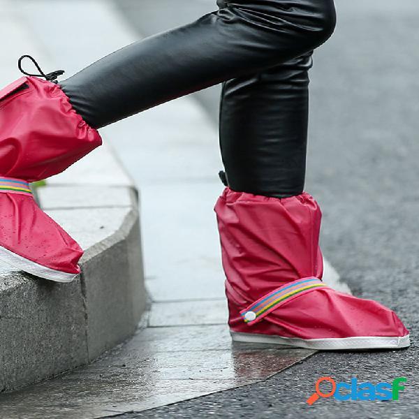 4 colores impermeable hombre mujer rain botas funda antideslizante rainbow rain botas