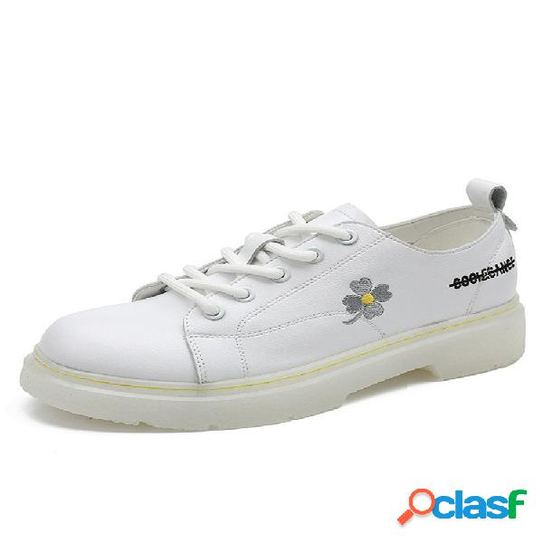 Mujer daisy color sólido casual corte de tacón bajo sneaker zapatos