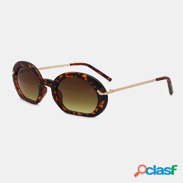 Mujer marco de metal completo forma redonda clásico retro uv gafas de sol de protección