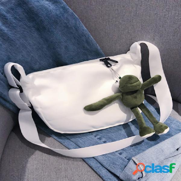 Mujer bandolera casual de dibujos animados lindo bolsa hombro bolsa