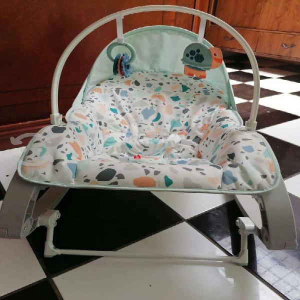 Silla mecedora vibradora para bebe azul