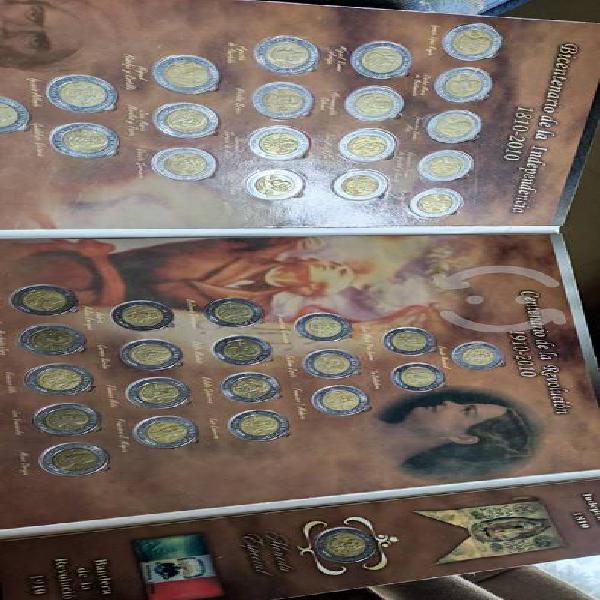 Album completo de monedas de 5 pesos