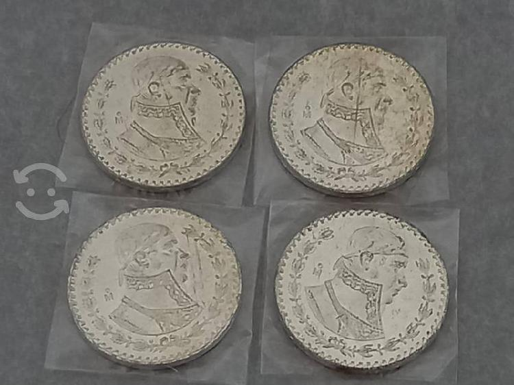 Moneda plata morelos de 1 peso.