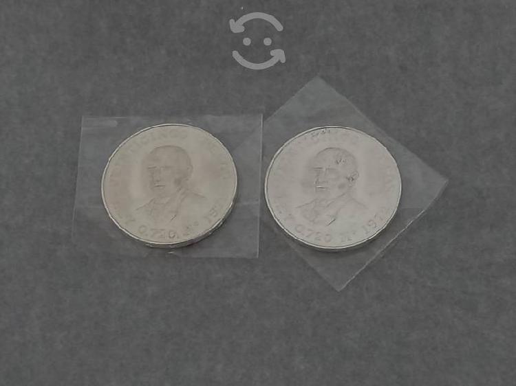 Moneda plata juarez 25 pesos.