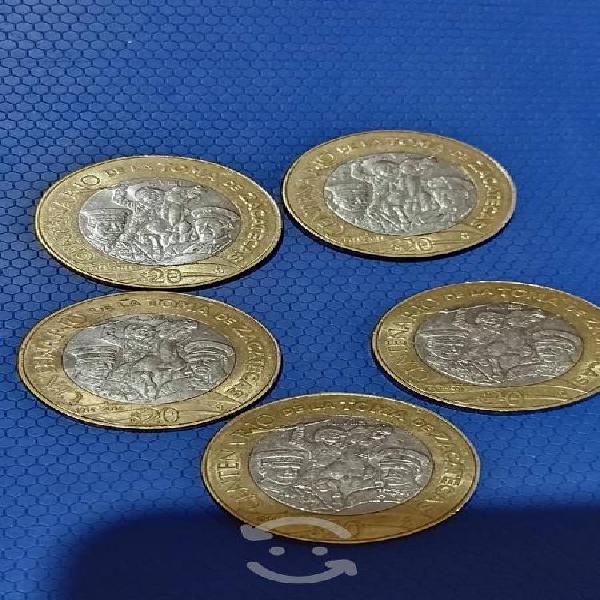 Moneda centenario de la toma de zacatecas de 20