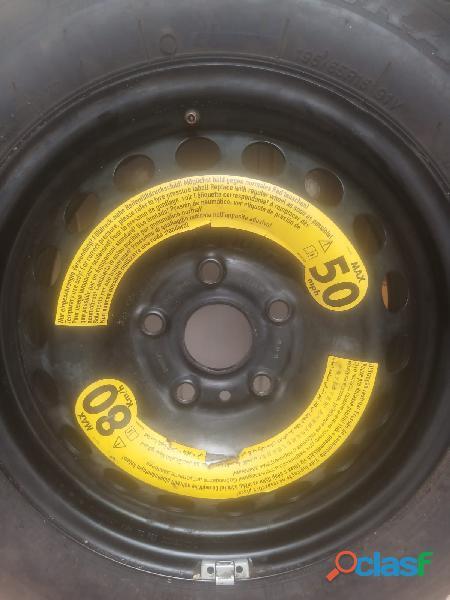 Rin 15 negro 5 birlos volkswagen para llanta de refacción