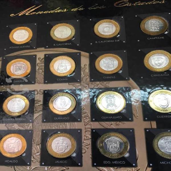 Album completo monedas bimetal 1ra face brillantes