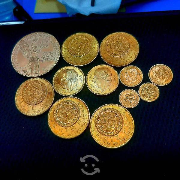 Compr0 monedas de oro y plata