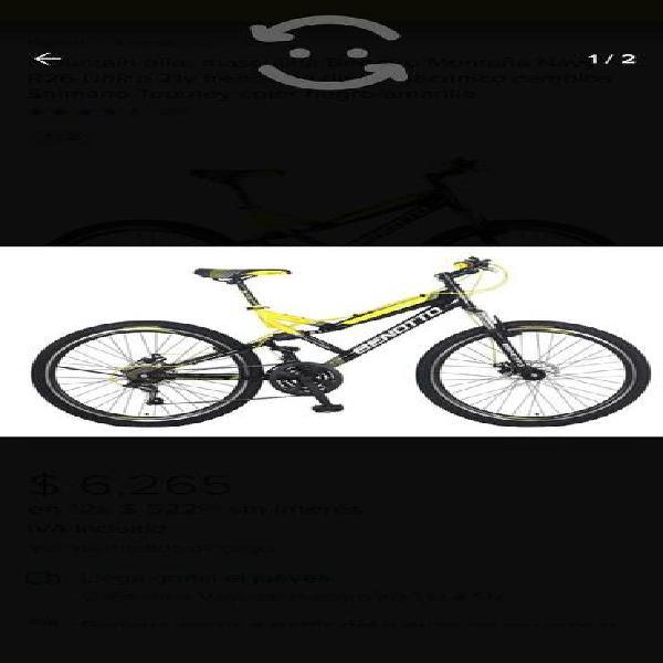 Mountain bike masculina benotto montaña navy r26 ú
