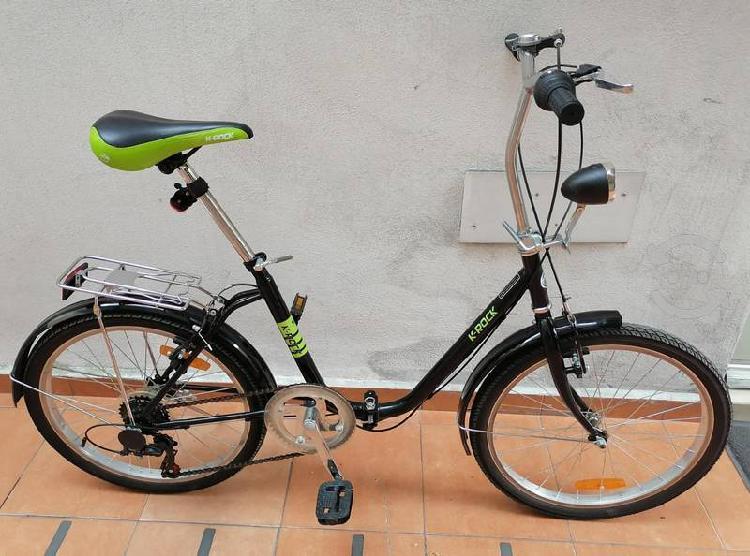 Bicicleta plegable k-rock r22