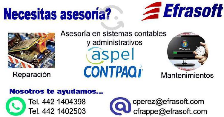 Asesoria y servicios aspel , contpaq