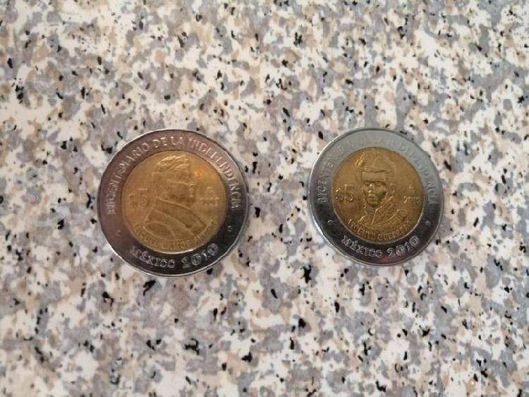 Monedas bicentenario de la independencia