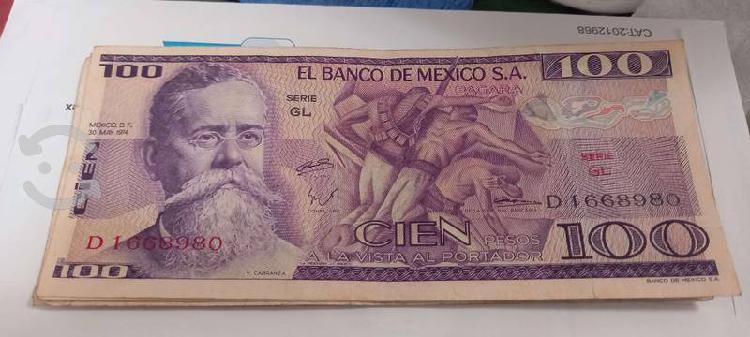 Billete antiguo de 100 pesos