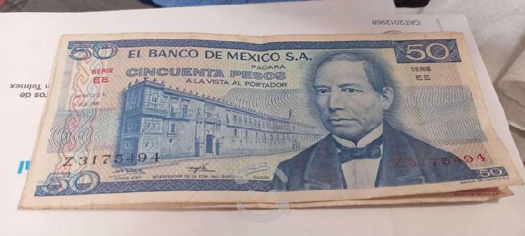 Billete antiguo de 50 pesos