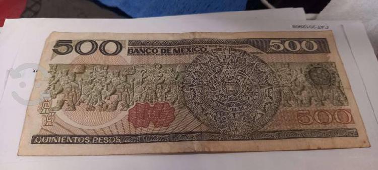 Billete antiguo de 500 pesos