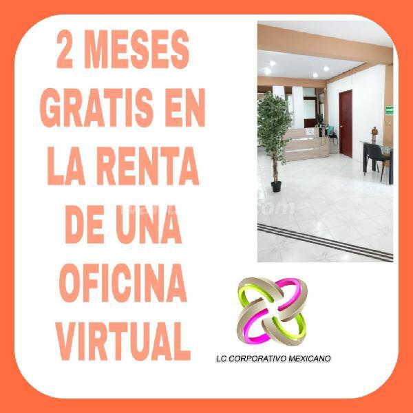 Domicilio fiscal y comercial renta de oficinas virtuales