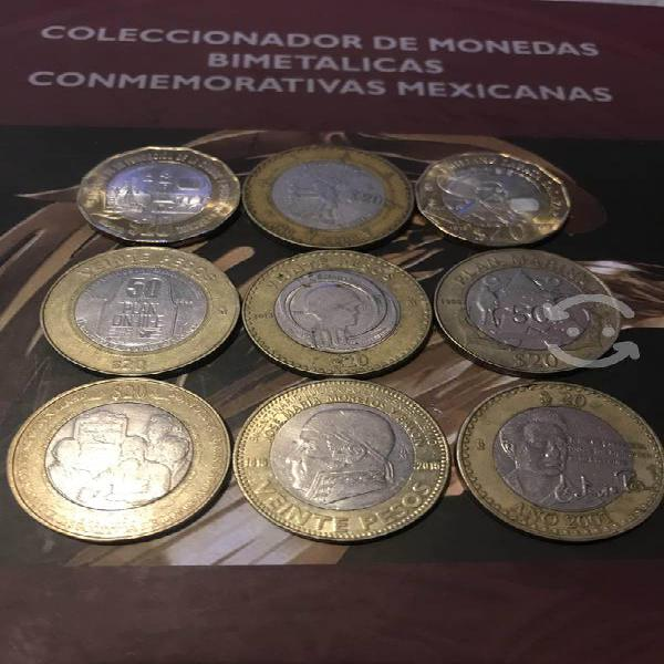 Lote monedas y coleccionador