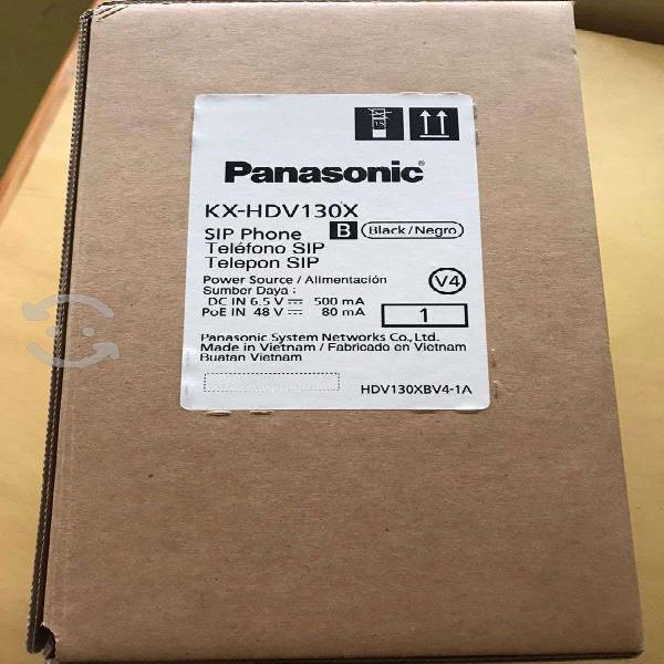 Panasonic teléfono ip kx-hdv130, 4 líneas, 2 tecla