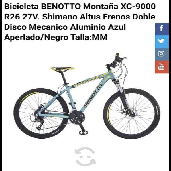 Bicicleta benotto montaña xc-9000 r26 27v aluminio