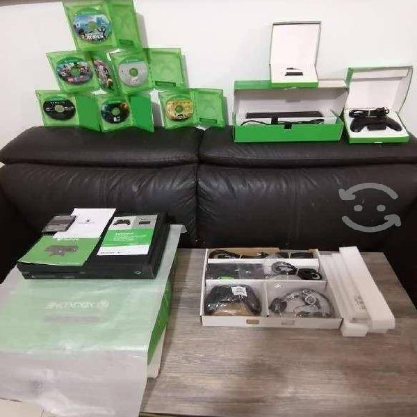 Xbox one con kineck 6 juegos y dos controles