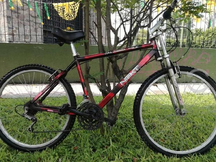 Bicicleta montaña next rodado 26 de suspensión