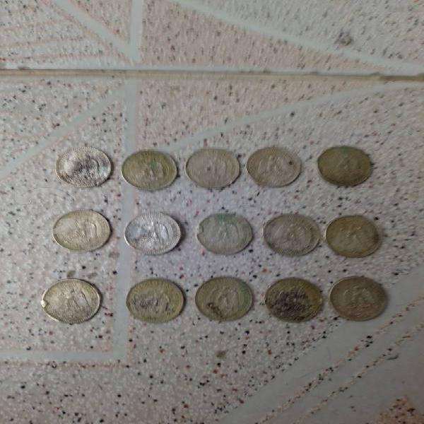 Lote monedas de plata antiguas