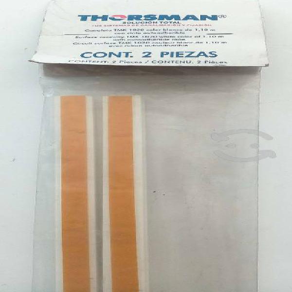 Canaleta tmk1020 color blanco 1,10m con cinta auto