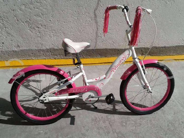 Bicicleta turbo princess para niña r20