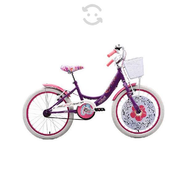 Bicicleta veloci amore mio city rodada 20 violeta
