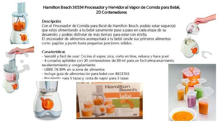 Hamilton beach 36534 procesador y hervidor p/ bebe