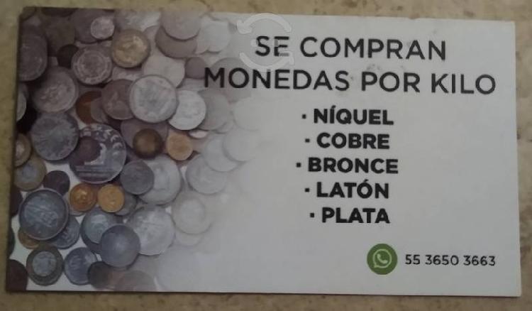 Compro monedas níquel,cobre y latón acero