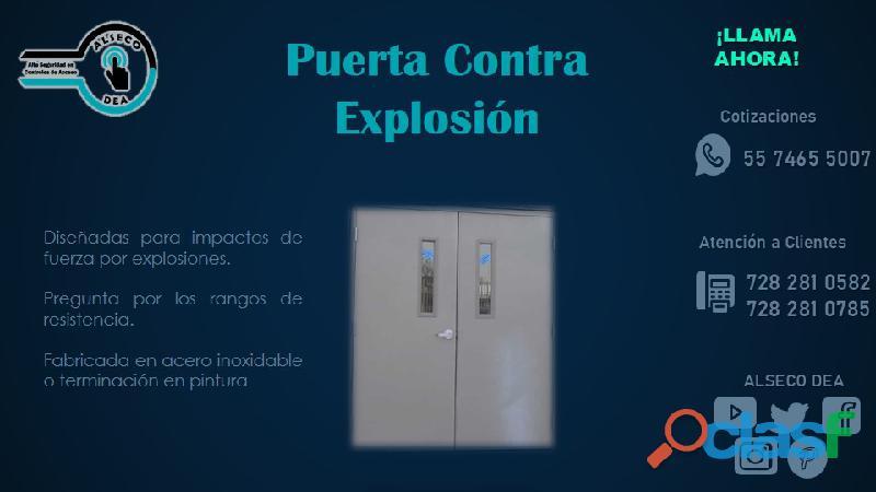 Puerta contra explosion