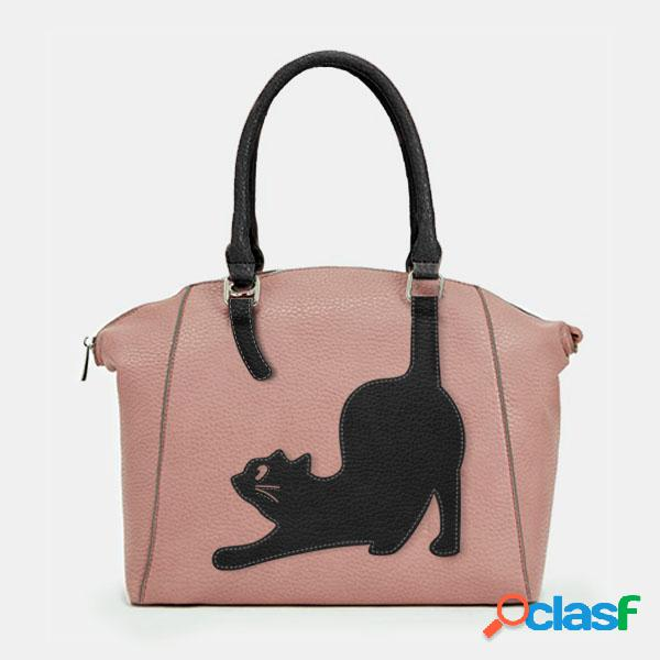 Mujer gato patrón bolso bandolera bolsa