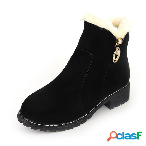 Mujer antideslizante nieve cálida botas martin botas